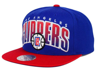 Los Angeles Clippers Mitchell and Ness NBA Double Bonus Snapback Cap