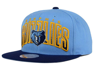 Memphis Grizzlies Mitchell and Ness NBA Double Bonus Snapback Cap