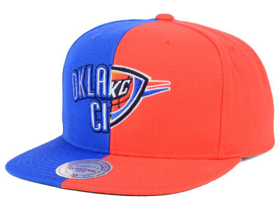 Oklahoma City Thunder Mitchell and Ness NBA Split Snapback Cap