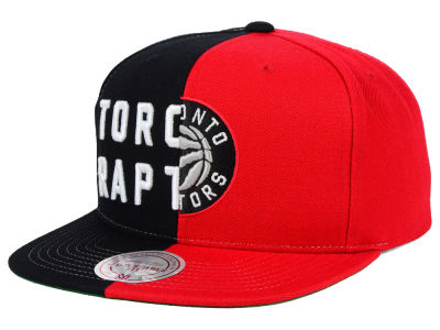 Toronto Raptors Mitchell and Ness NBA Split Snapback Cap