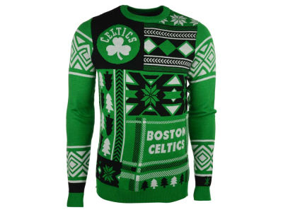 Boston Celtics La Tilda NBA Men's Patches Ugly Sweater