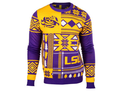 LSU Tigers La Tilda NCAA Men's Patches Ugly Sweater