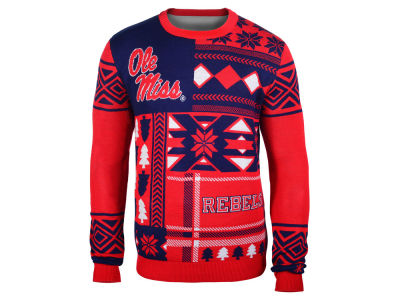 Ole Miss Rebels La Tilda NCAA Men's Patches Ugly Sweater