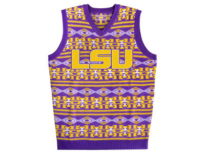 LSU Tigers La Tilda NCAA Men's Ugly Sweater Vest