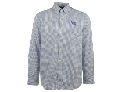 Kentucky Wildcats NCAA Men's Tattersall Long Sleeve Woven Button Up Shirt