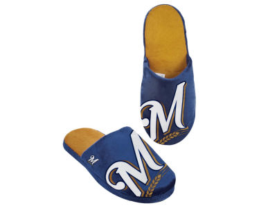 Milwaukee Brewers Big Logo Slippers