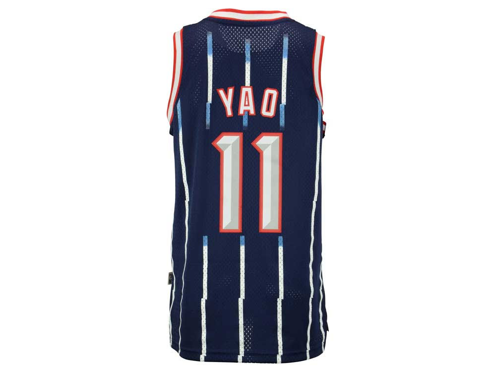 ... mitchell ness navy blue authentic basketball jersey q32421 dbc4f bf2d2   ireland houston rockets yao ming adidas nba mens retired player swingman  jersey ... 22e16b5ac