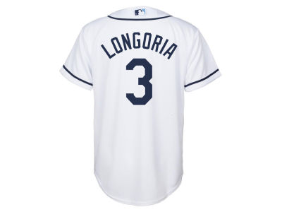 Tampa Bay Rays Evan Longoria Majestic MLB Youth Player Replica Cool Base Jersey