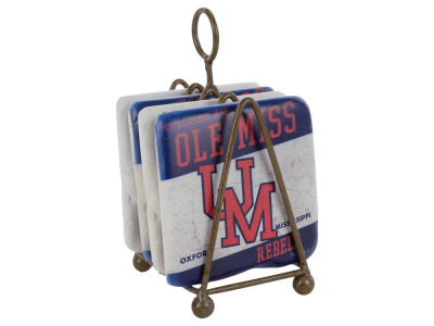 Ole Miss Rebels 4 Inch by 4 Inch Coaster Set
