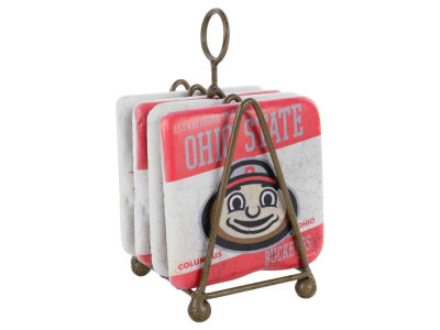 Ohio State Buckeyes 4 Inch by 4 Inch Coaster Set