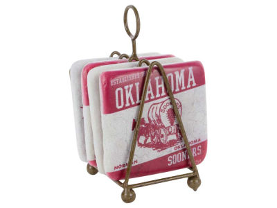 Oklahoma Sooners 4 Inch by 4 Inch Coaster Set
