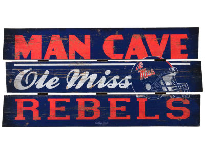 Ole Miss Rebels Plank Wood Sign