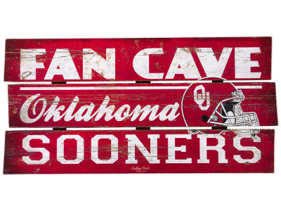 Oklahoma Sooners Plank Wood Sign
