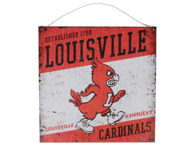 Louisville Cardinals 12x12 Slant Tin Sign