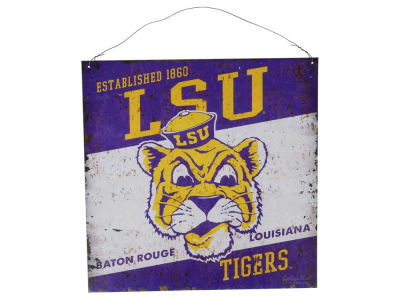 LSU Tigers 12x12 Slant Tin Sign