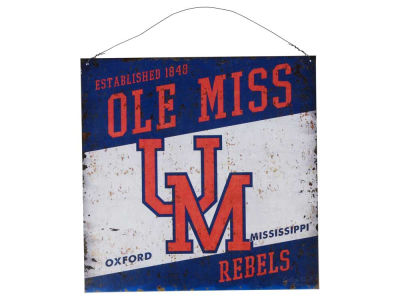 Ole Miss Rebels 12x12 Slant Tin Sign