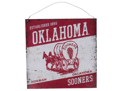 Oklahoma Sooners 12x12 Slant Tin Sign