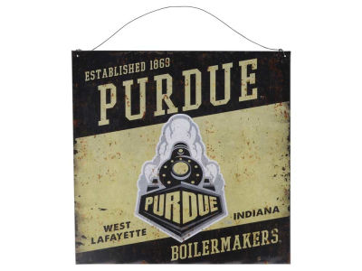 Purdue Boilermakers 12x12 Slant Tin Sign