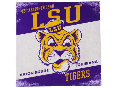 LSU Tigers 14x14 Vintage Mascot Wall Art