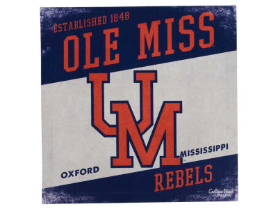 Ole Miss Rebels 14x14 Vintage Mascot Wall Art