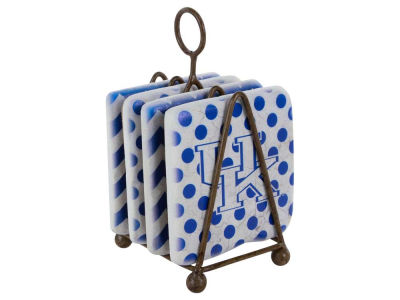Kentucky Wildcats Dots/Chevron Coaster Set
