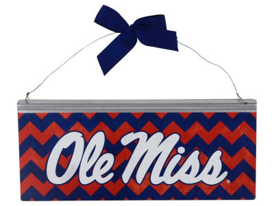 Ole Miss Rebels 12x5 Small Bow Tin Sign