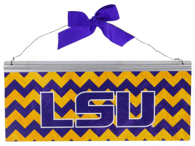 LSU Tigers 12x5 Small Bow Tin Sign