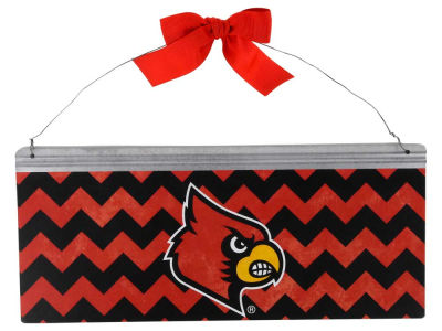 Louisville Cardinals 12x5 Small Bow Tin Sign