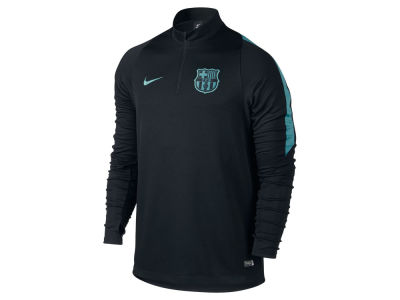 FC Barcelona Nike Men's Club Team Decept Drill 1/4 Zip Long Sleeve Shirt