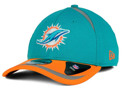 Miami Dolphins New Era NFL Reflective 2 Tone 39THIRTY Cap