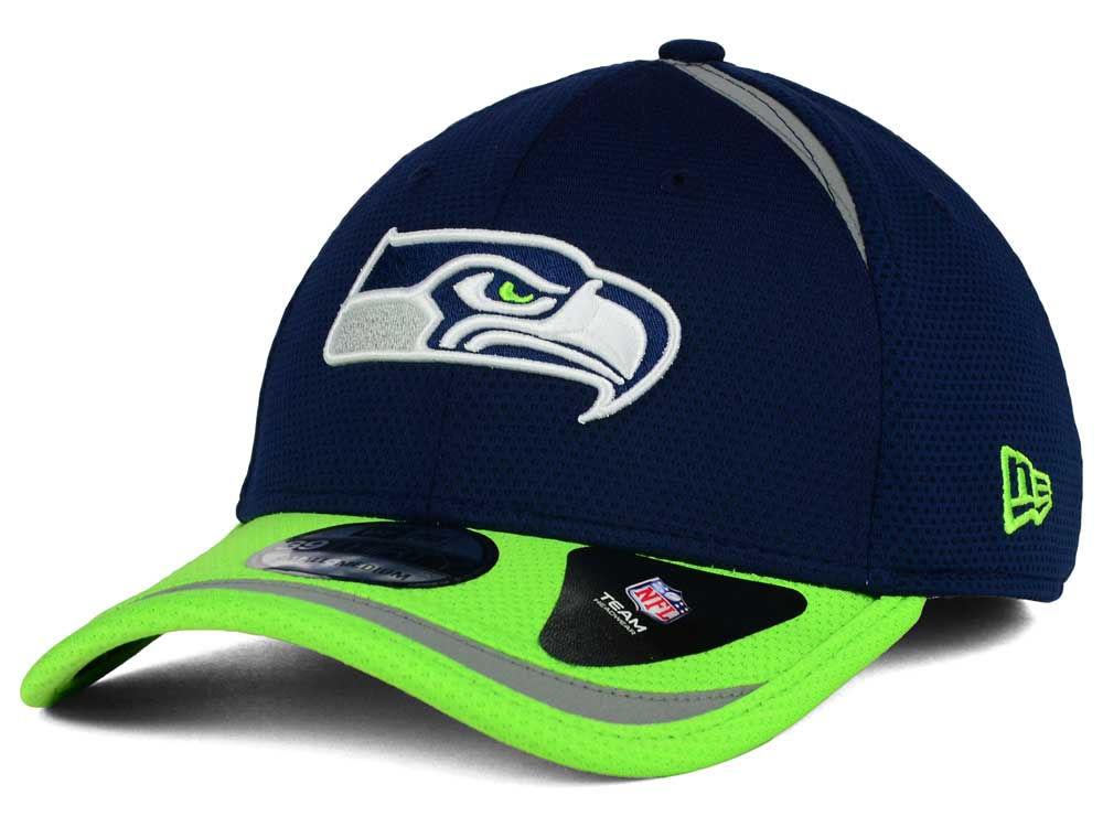 b7cfbd68b Seattle Seahawks New Era NFL Reflective 2 Tone 39THIRTY Cap