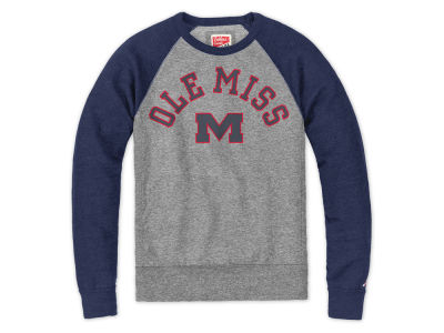 Ole Miss Rebels NCAA Men's Triblend Colorblack Crew Sweatshirt