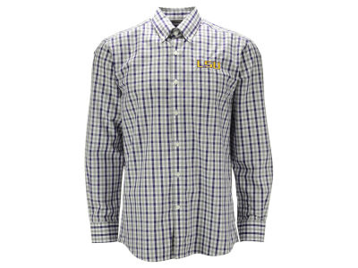 LSU Tigers NCAA Men's Epic Grant Plaid Button Up Shirt