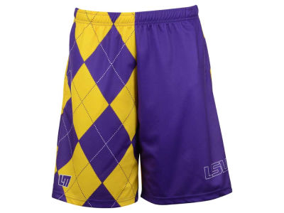 LSU Tigers NCAA Men's Loud Mouth Poly Shorts