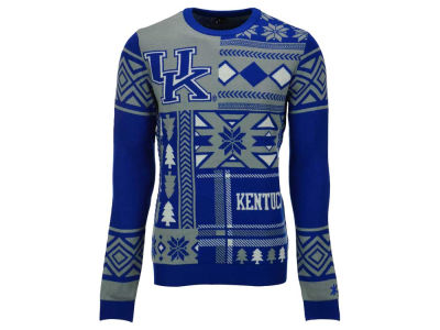 Kentucky Wildcats La Tilda NCAA Men's Patches Ugly Sweater