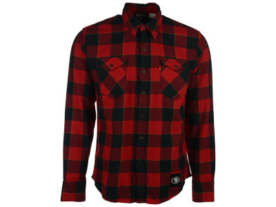 San Francisco 49ers NFL Plaid Barstow Western Top