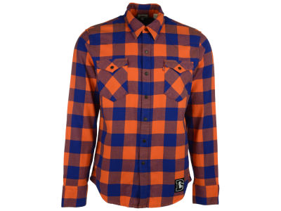 Denver Broncos NFL Plaid Barstow Western Top