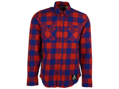 New England Patriots NFL Plaid Barstow Western Top