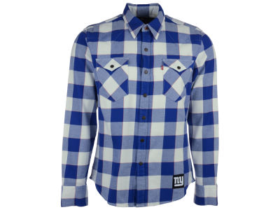 New York Giants NFL Plaid Barstow Western Top