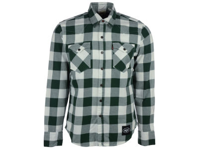 New York Jets Levi's NFL Plaid Barstow Western Top