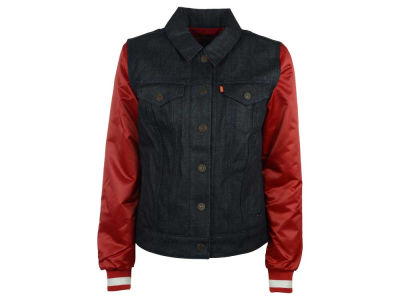San Francisco 49ers NFL Women's Denim Varsity Jacket
