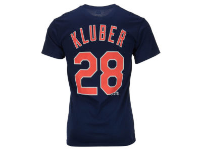 Cleveland Indians Corey Kluber Majestic MLB Men's Official Player T-Shirt