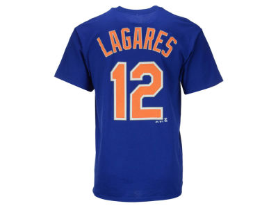 New York Mets Juan Lagares Majestic MLB Men's Official Player T-Shirt