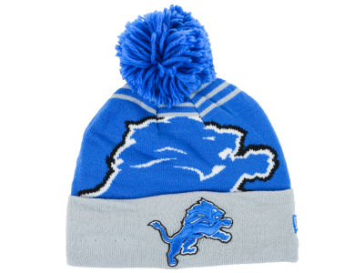 Detroit Lions New Era NFL Logo Whiz Knit