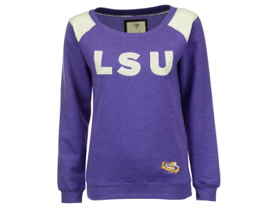 LSU Tigers NCAA Women's Tempest Boatneck Fleece Sweatshirt