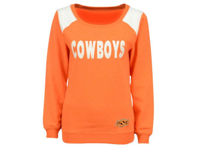 Oklahoma State Cowboys NCAA Women's Tempest Boatneck Fleece Sweatshirt