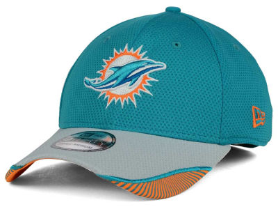 Miami Dolphins New Era NFL Visor Hash 39THIRTY Cap