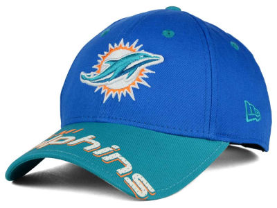 Miami Dolphins New Era NFL Word Pin 2 Tone 9FORTY Cap