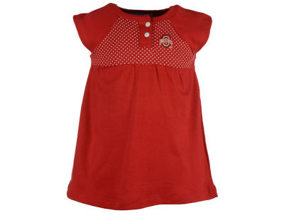 Ohio State Buckeyes NCAA Toddler Girls Pin Dot Dress