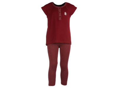 Oklahoma Sooners NCAA Toddler Girls Pin Dot Shirt and Legging Outfit